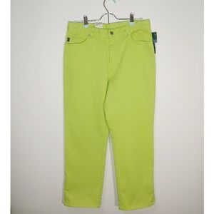 Lauren Jeans Co. womens Jeans 8 M green lime new